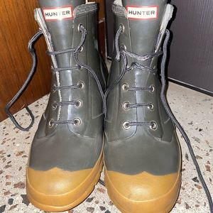 Hunter rain boots lace up ankle